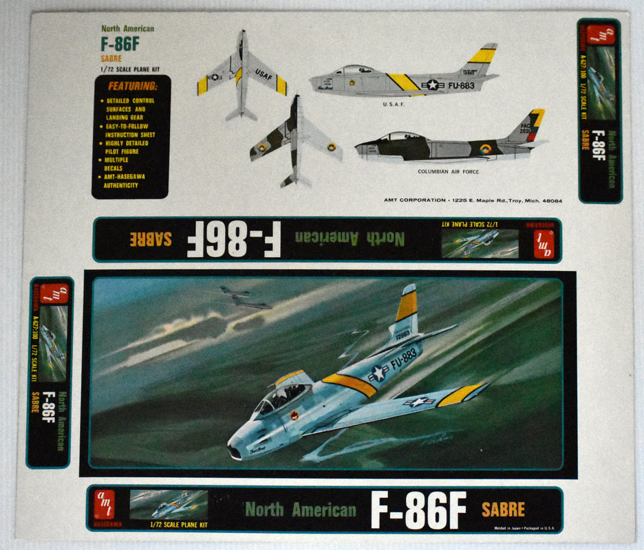 Otto Kuhni Artwork - Early Commercial Works - AMT - F-86F
