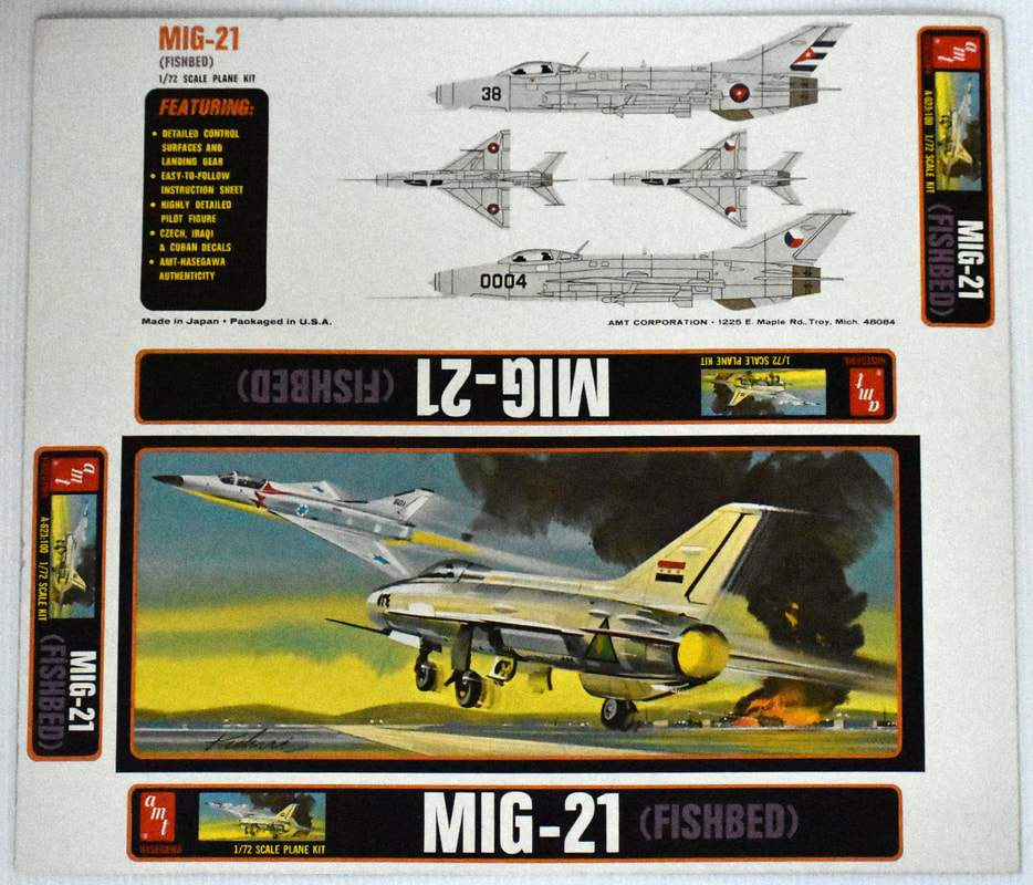 Otto Kuhni Artwork - Early Commercial Works - AMT - MIG-21