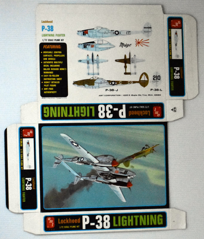 Otto Kuhni Artwork - Early Commercial Works - P-38 Lightning