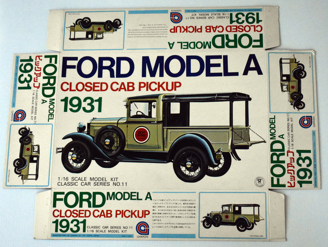 Otto Kuhni Artwork - Early Commercial Works - Gakken Ford Model A Closed Cab Pickup