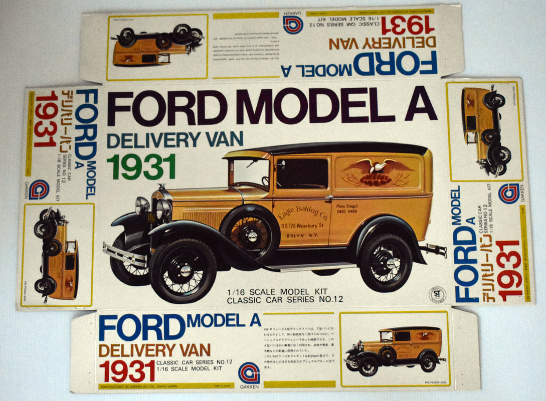 Otto Kuhni Artwork - Early Commercial Works - Gakken Ford Model A Delivery Van