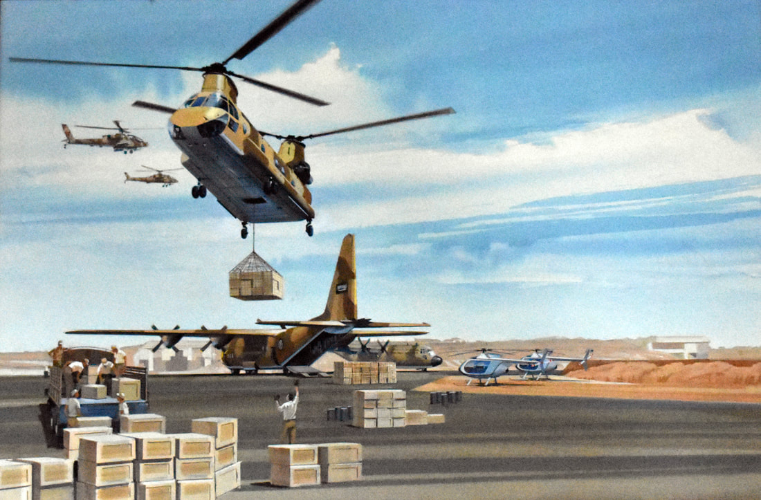 Otto Kuhni Artwork - Helicopters