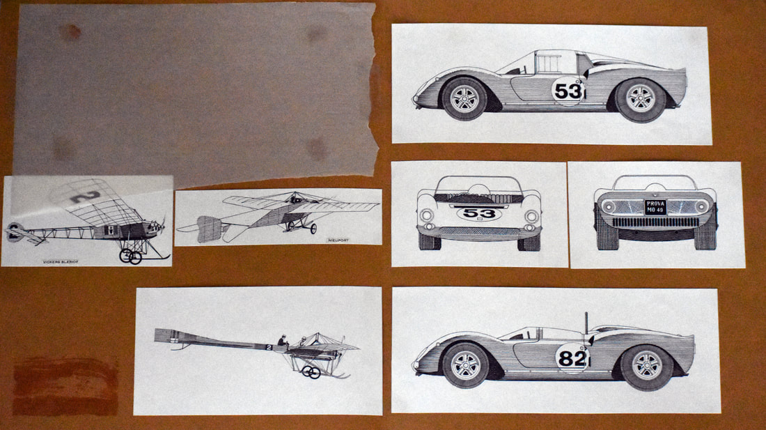 Otto Kuhni Artwork - Cars and Airplanes