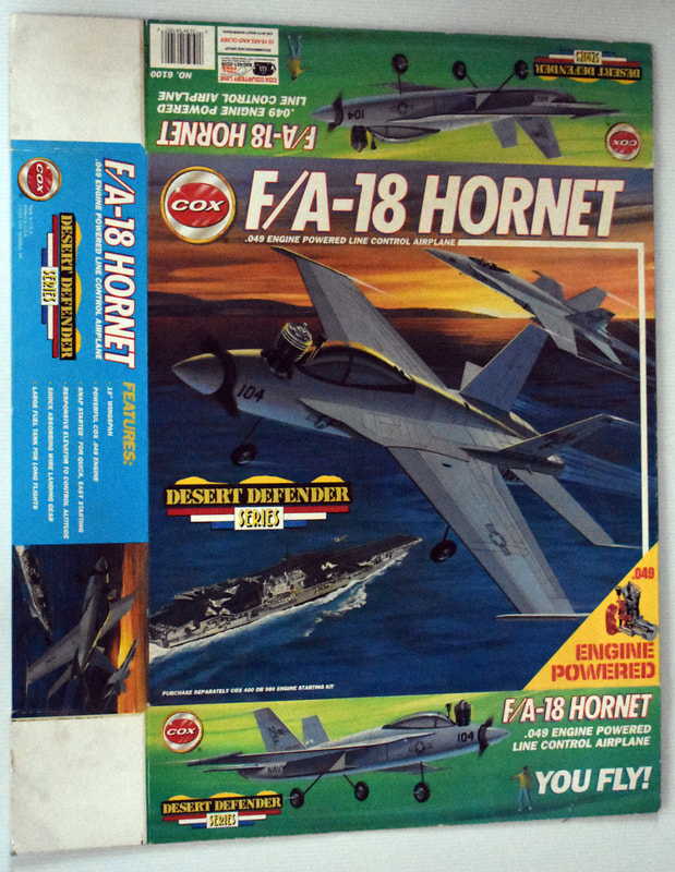 Otto Kuhni Artwork - Early Commercial Works - Cox - Desert F/A-18 Hornet