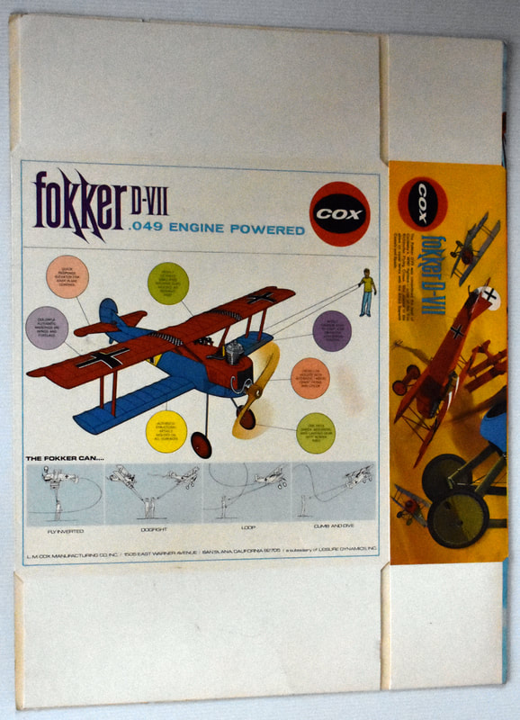 Otto Kuhni Artwork - Early Commercial Works - Cox - Fokker D-VII