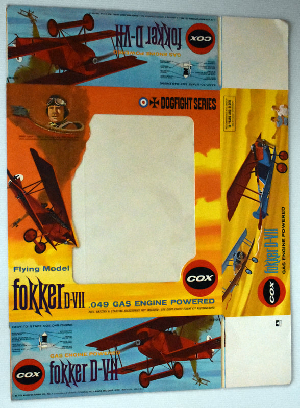 Otto Kuhni Artwork - Early Commercial Works - Cox Fokker D-VII