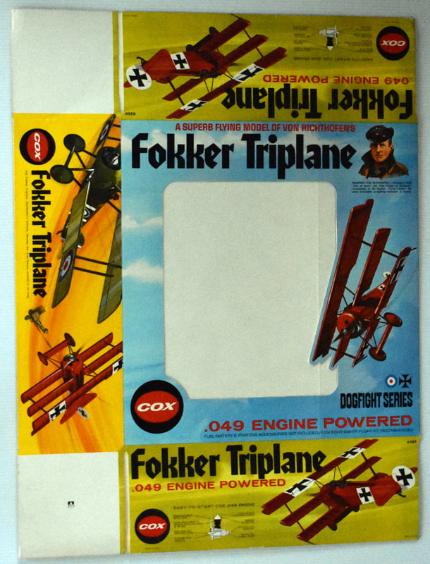 Otto Kuhni Artwork - Early Commercial Works - Cox Fokker Triplane