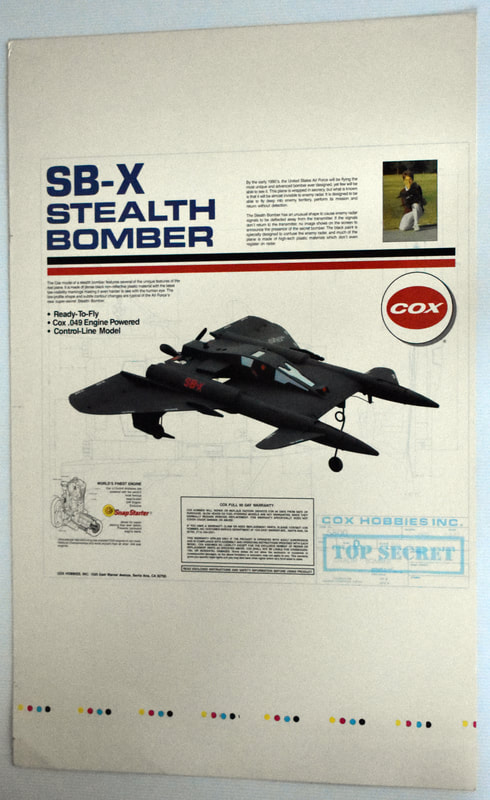 Otto Kuhni Artwork - Early Commercial Works - Cox - SB-X Stealth Bomber