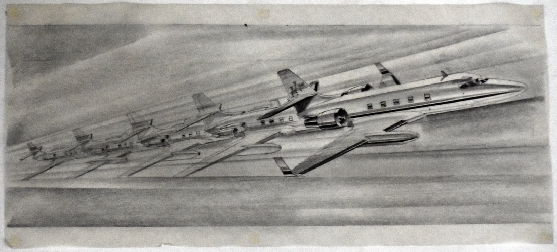 Otto Kuhni Artwork - Hand Drawings - Jet Plane