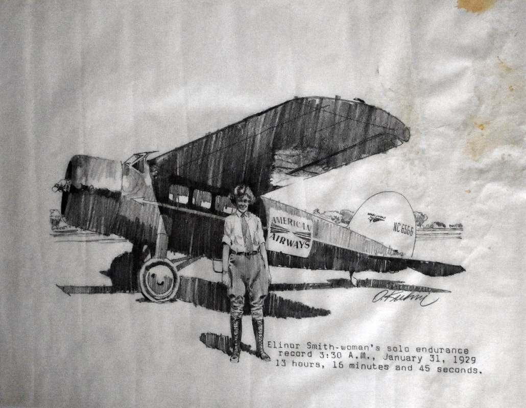 Otto Kuhni Artwork - Hand Drawings - Elenore Smith American Airways