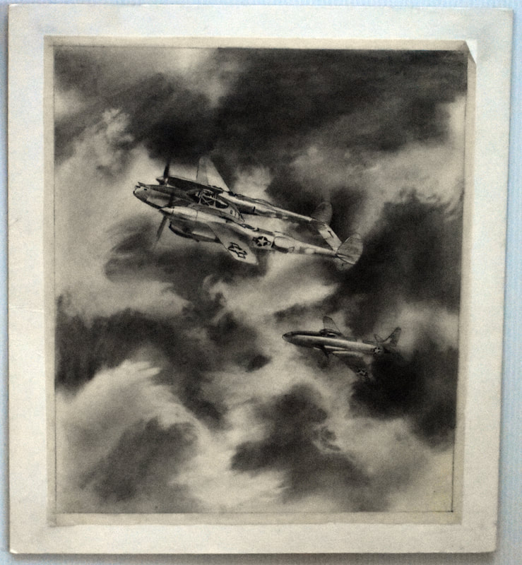 Otto Kuhni Artwork - Hand Drawing - Two Planes