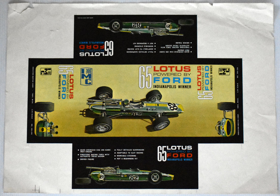 Otto Kuhni Artwork - Printer's Proofs - 65 Lotus Powered by Ford
