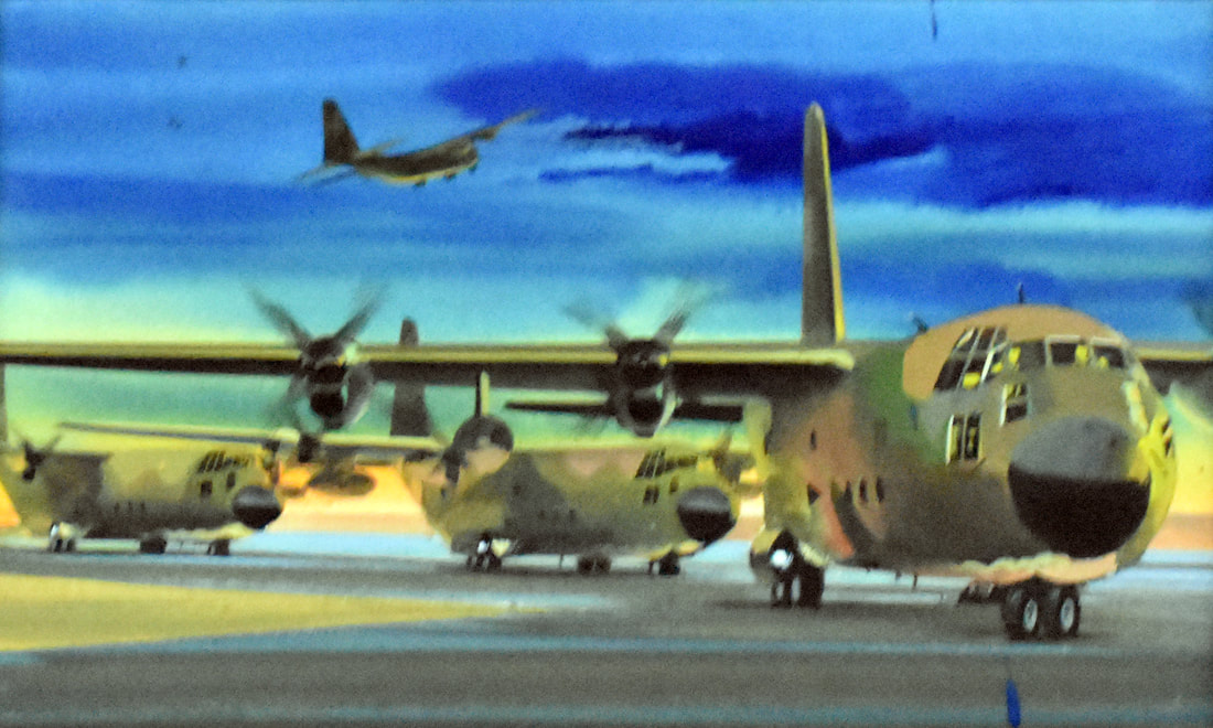 Otto Kuhni Artwork - Four Military Planes