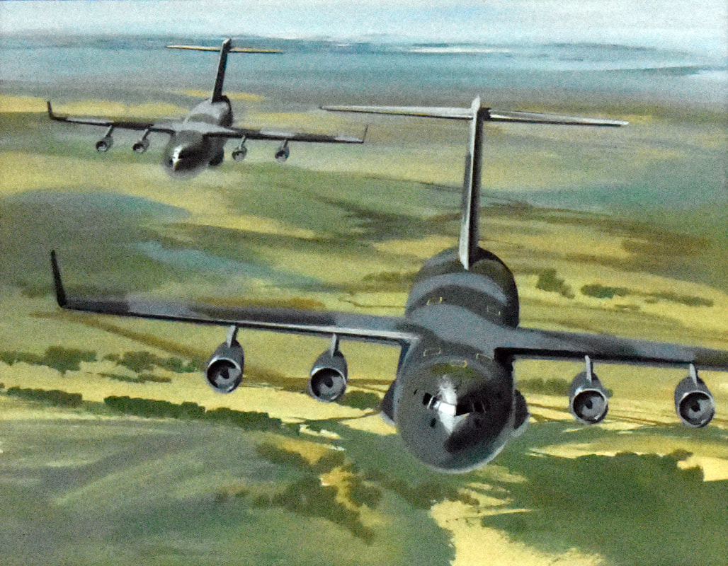 Otto Kuhni Artwork - Military Planes