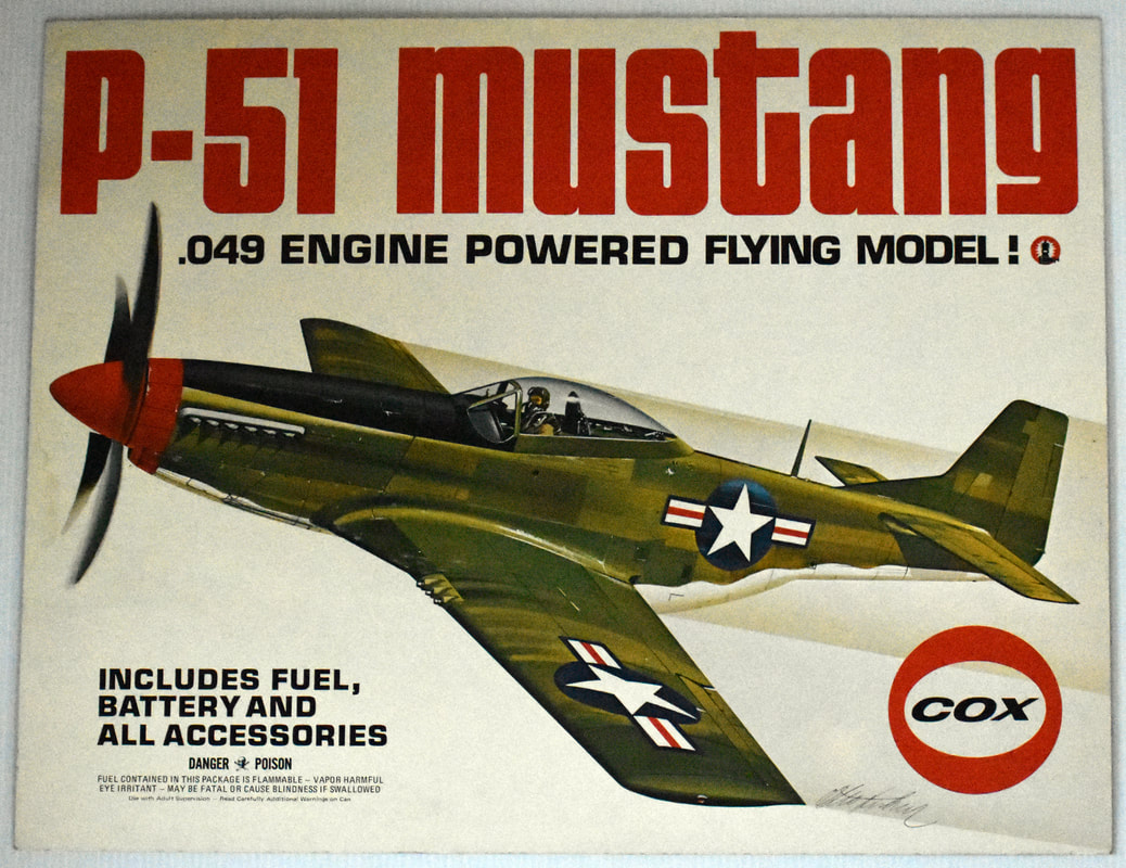 Otto Kuhni Artwork - Early Commercial Works - Cox - P-51 Mustang