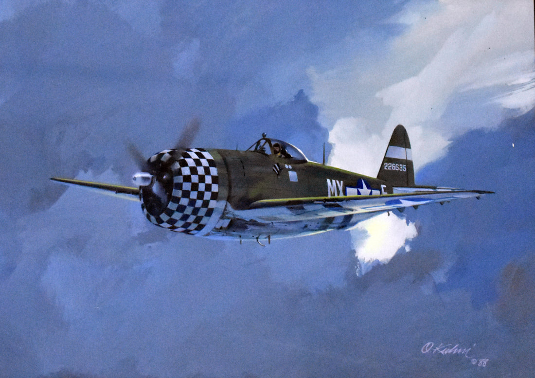 Otto Kuhni Artwork - Paintings - Checkerboard Plane (1988)