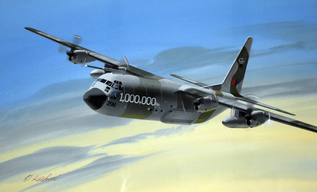 Otto Kuhni Artwork - Paintings - 1,000,000 Hours Plane