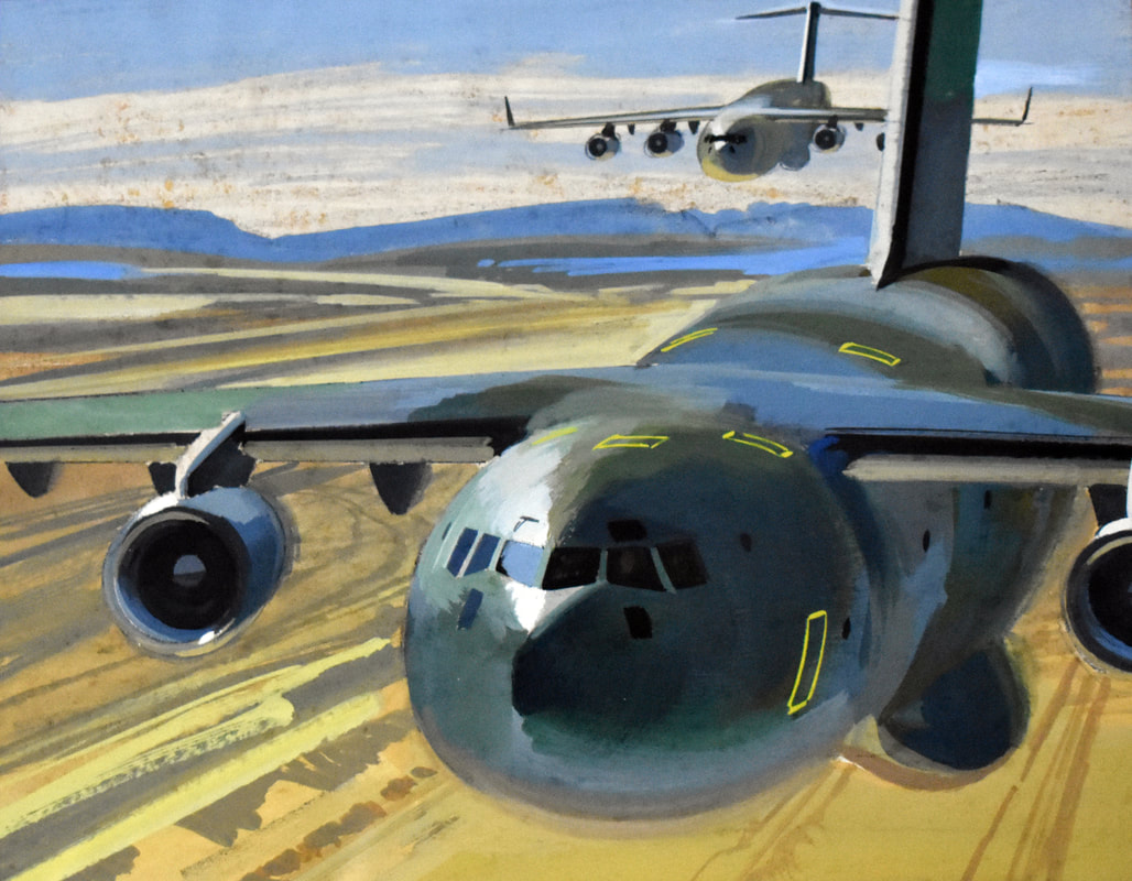 Otto Kuhni Artwork - Paintings - Two Military Planes