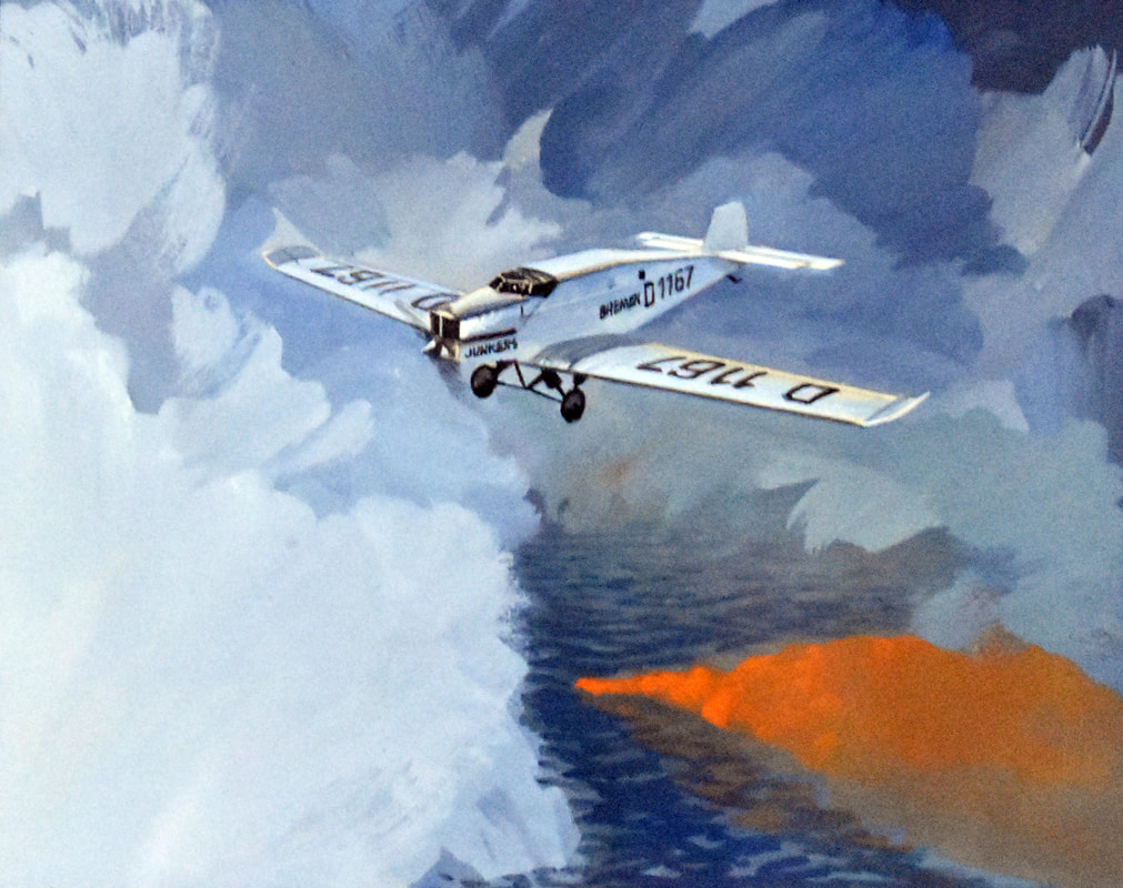 Otto Kuhni Artwork - Paintings - White Plane