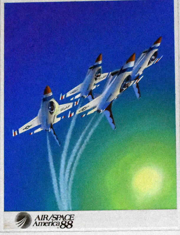 Otto Kuhni Artwork - Early Commercial Works - Air / Space America (1988)