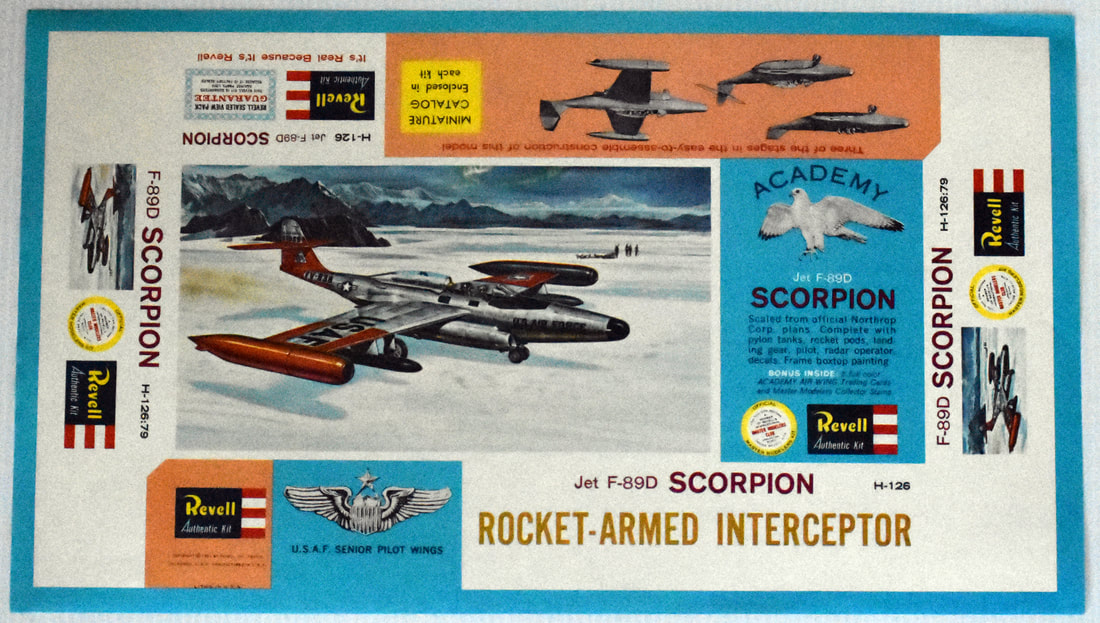 Otto Kuhni Artwork - Early Commercial Works - Revell - F-89D Scorpion
