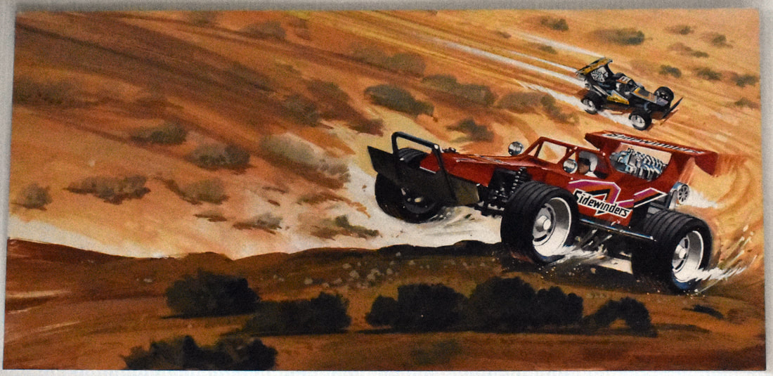 Otto Kuhni Artwork - Early Commercial Works - Sidewinders Cars