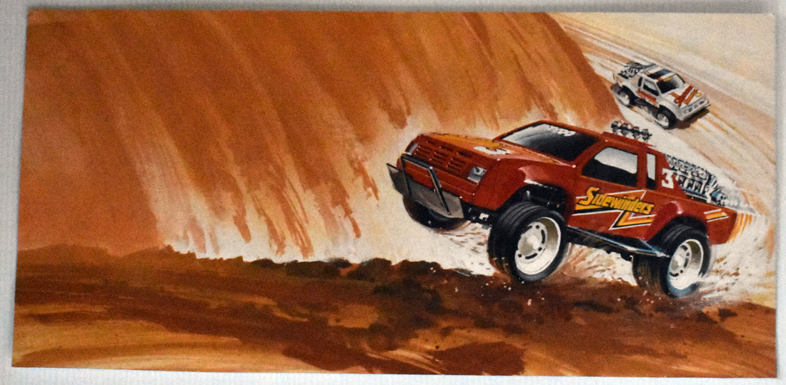 Otto Kuhni Artwork - Early Commercial Works - Sidewinders Trucks