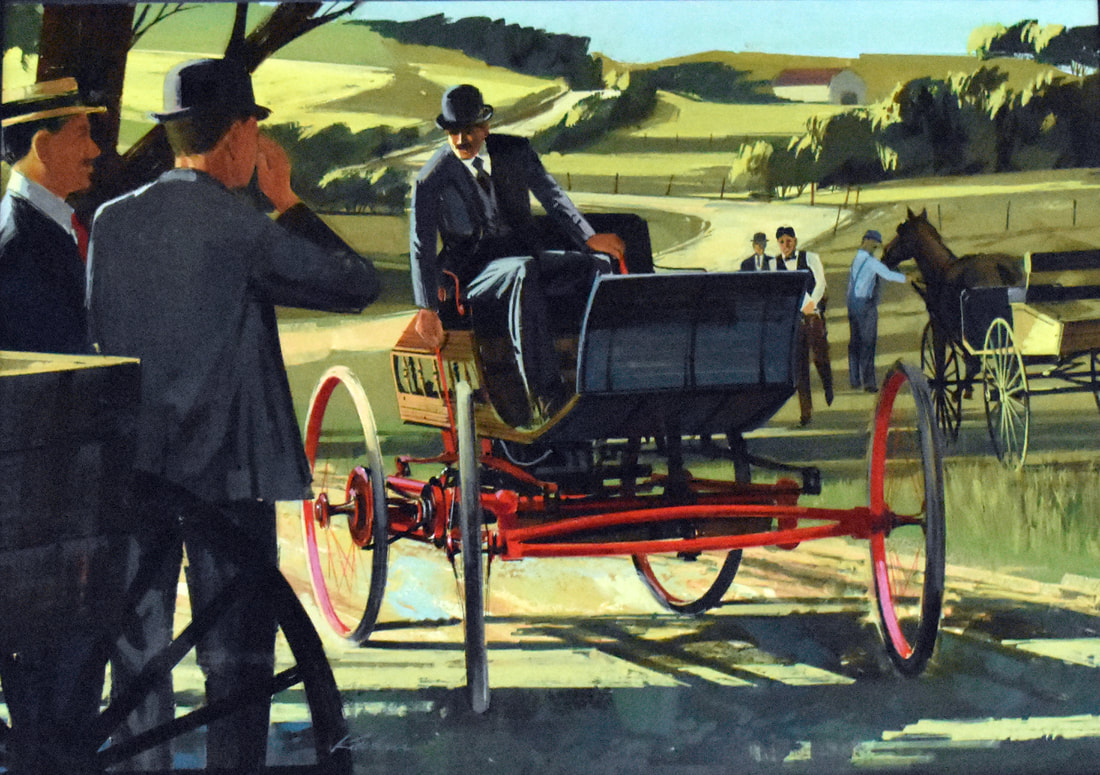 Otto Kuhni Artwork - Horse and Carriages