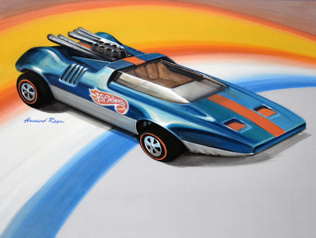 Howard Rees - Original Drawing Hot Wheels Peeping Bomb