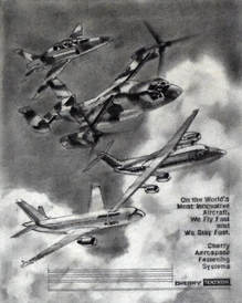 Otto Kuhni Artwork - Hand Drawing - Tektronic Airplanes